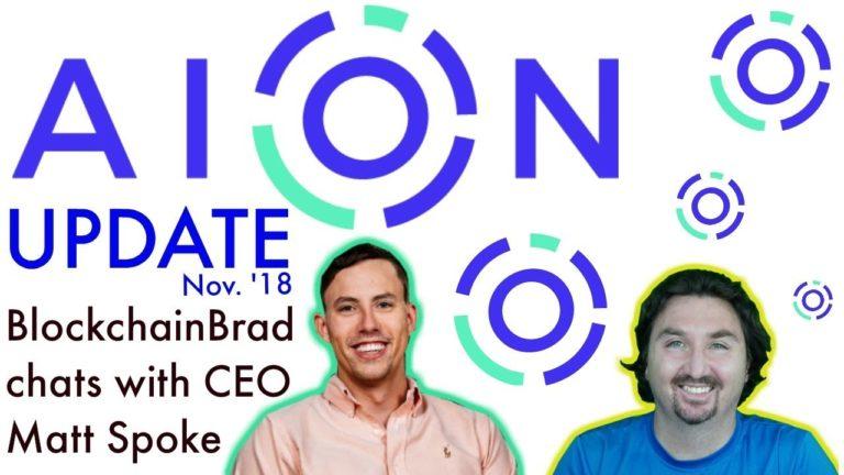 AION UPDATE | BlockchainBrad Exclusive with Matt Spoke | Interoperability & Usability | Blockchain