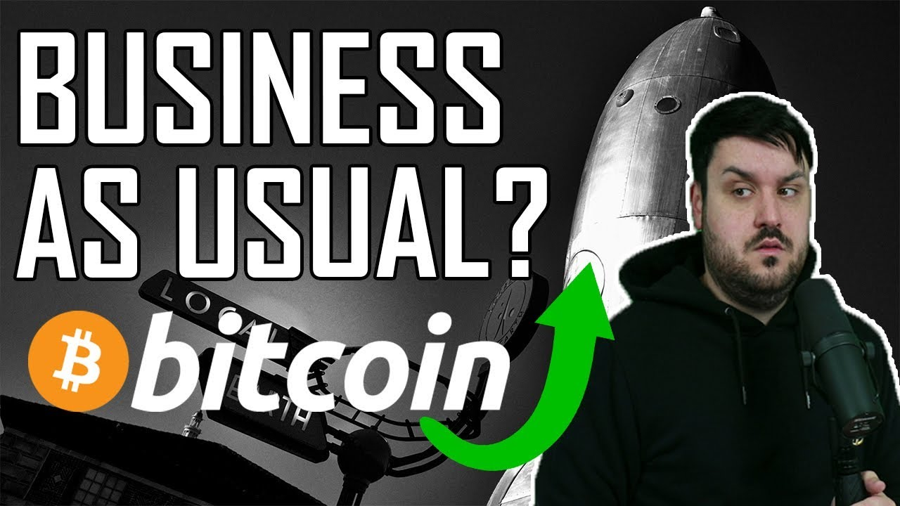 """Bitcoin Business """"As Usual""""?"""