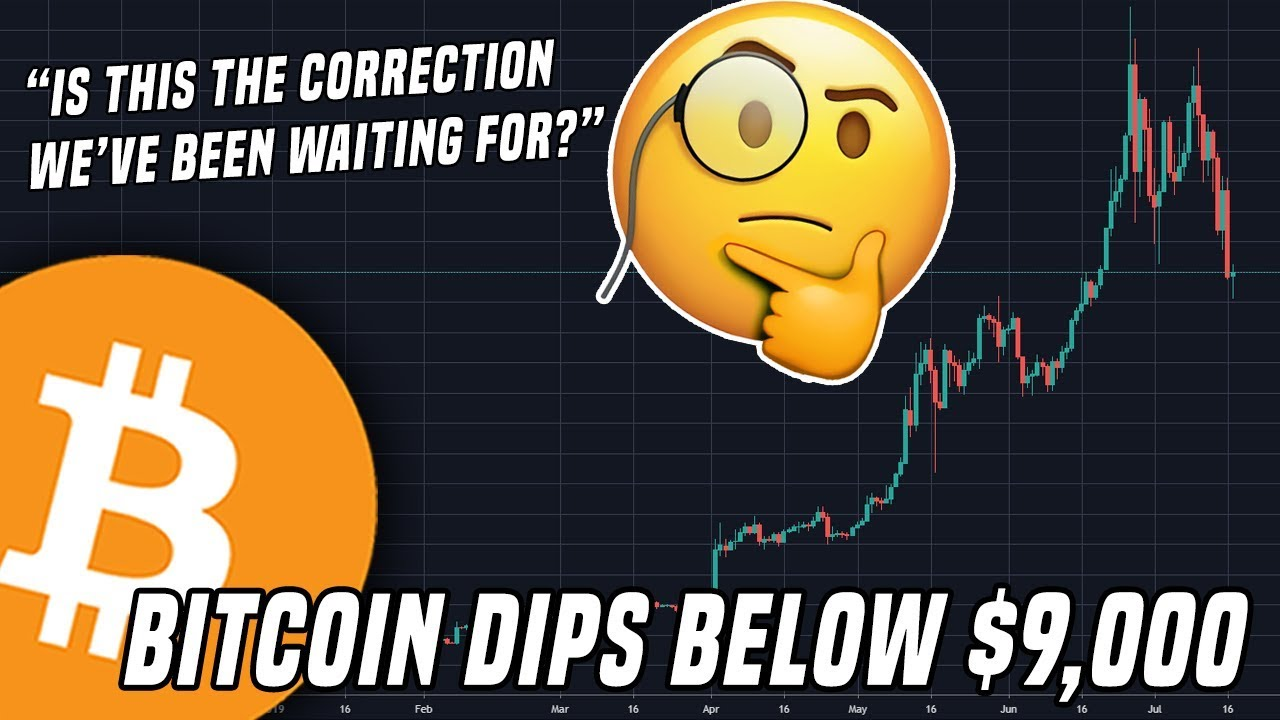 Bitcoin Dips To $9,000   Is This The Correction We've Been Waiting For?
