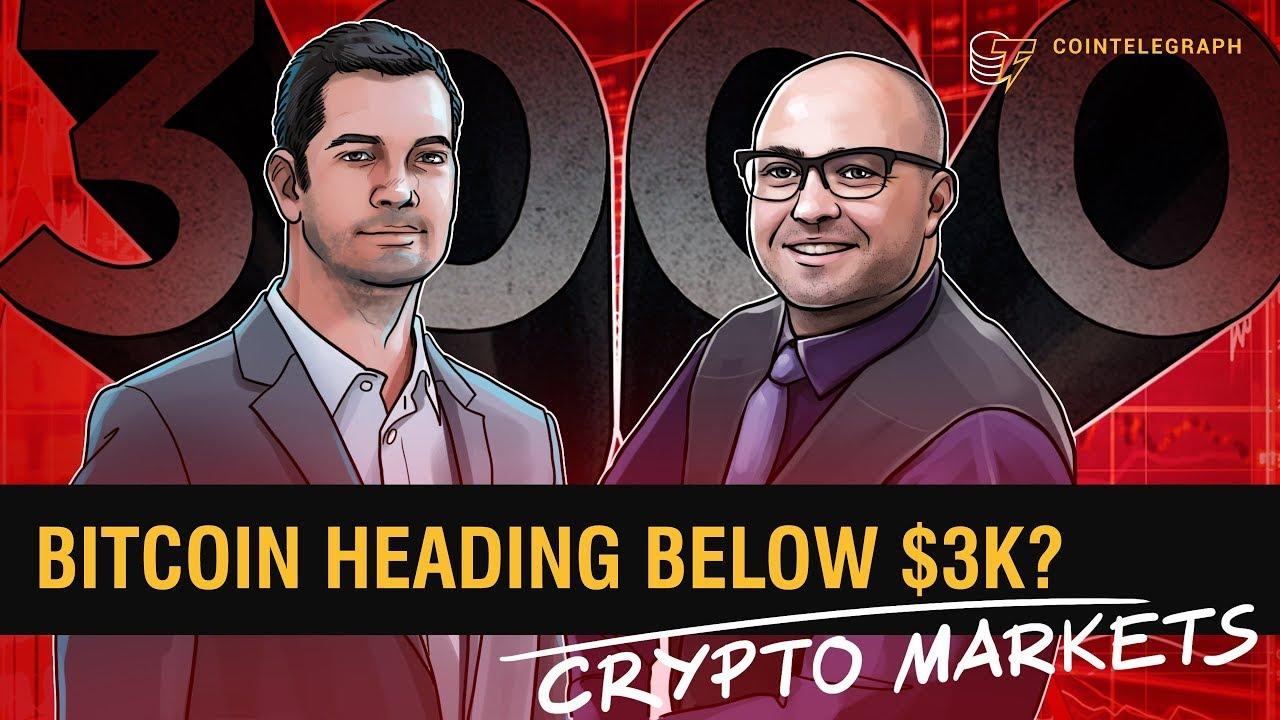 Bitcoin Heading Below $3K? | Crypto Markets