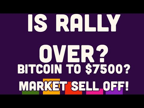 Bitcoin Heading to $7500? | Why It Sold Off Explained!