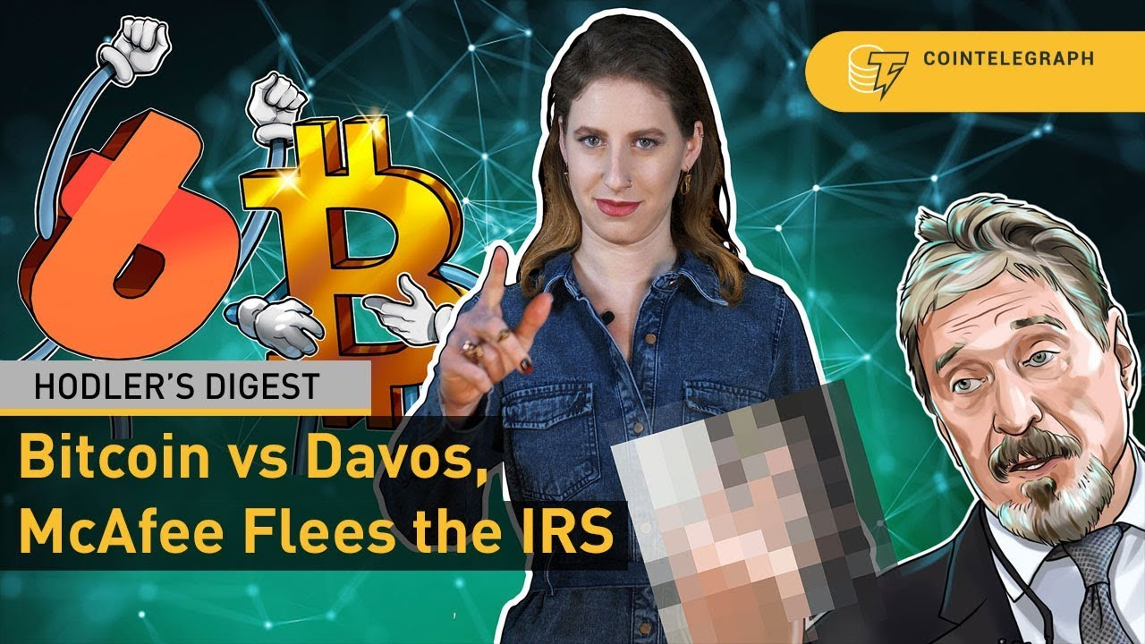 Bitcoin vs Davos, Reverse Crypto IPOs, McAfee Flees the IRS | Hodler's Digest