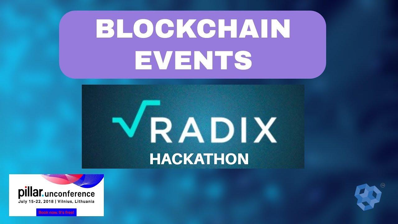 Blockchain Events. Radix Hackathon. Crypto