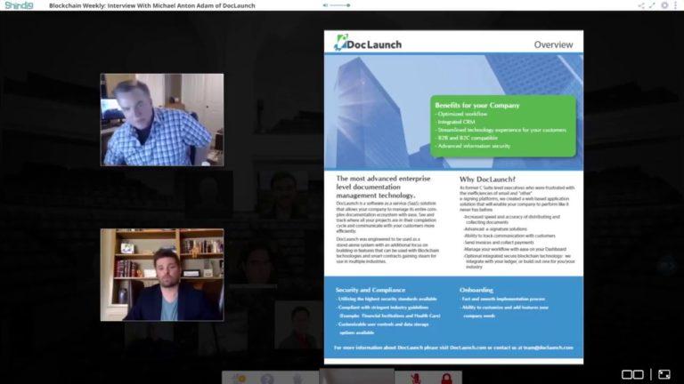 Blockchain Weekly: Interview With Michael Anton Adam