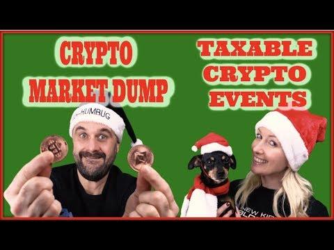 Crypto Market Dump, Taxable Events , and Xmas Crypto Gifts