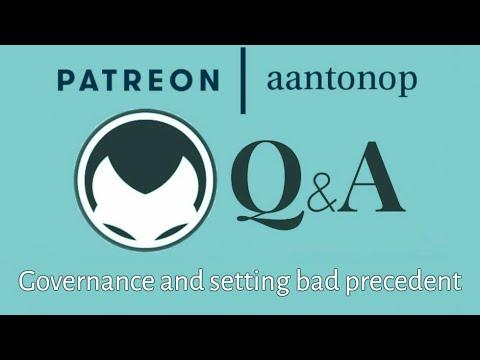 Ethereum Q&A: Governance and setting bad precedent