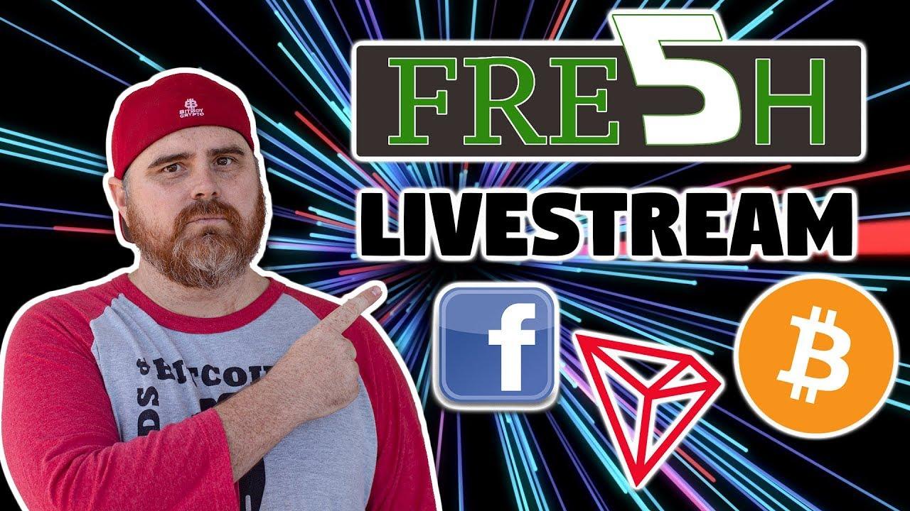 Fresh 5 Crypto Livestream   Tron, Bitcoin, & CoinMarketCap