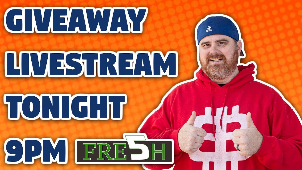 Giveaway Livestream | Plus Fresh 5 Crypto News Stories!
