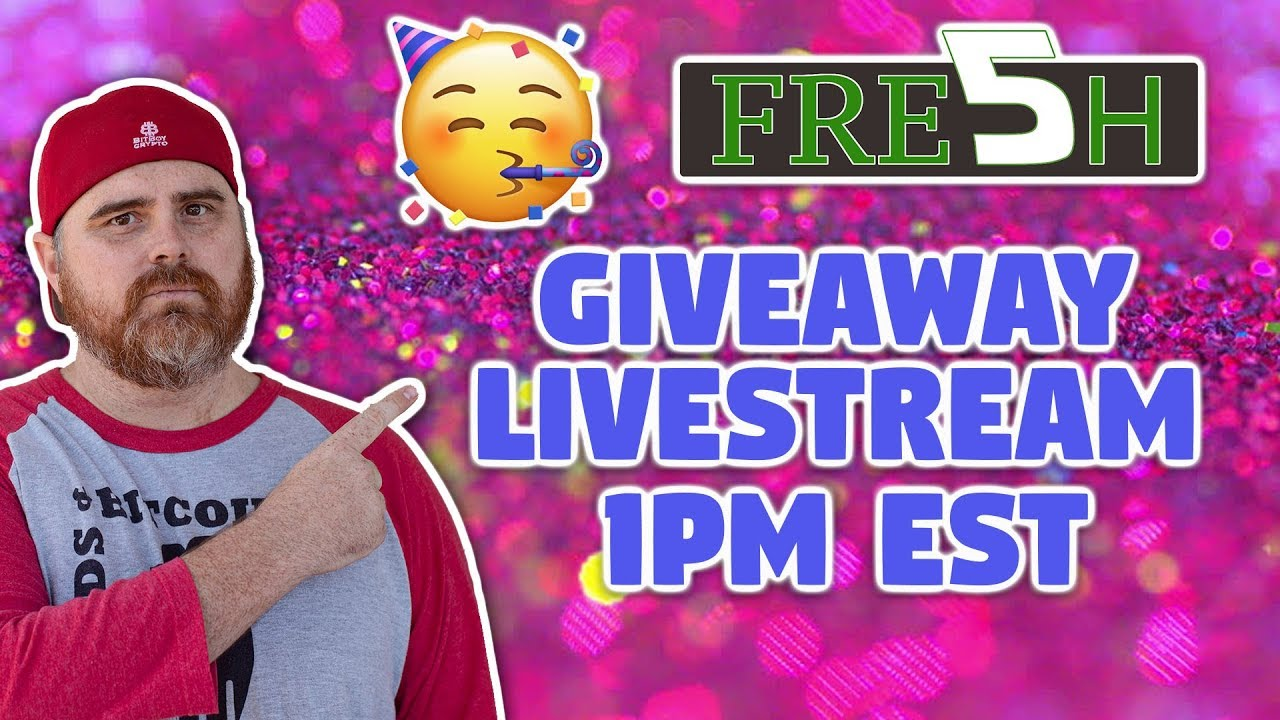 Giveaway Livestream! | Plus Fresh5 Crypto News! | IOST x Kucoin | BitSquad Crypto Chat