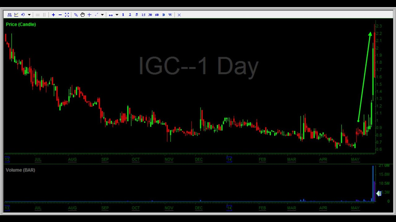 How to short sell - $7500 profit on IGC at Investors Underground
