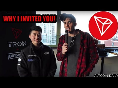 Jeffrey: The Man Who Invited Altcoin Daily, Ivan on Tech, Crypto Zombie, FUD TV To The Tron Event