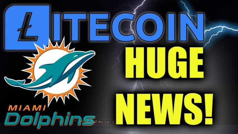 LITECOIN NEWS! LTC OFFICIAL CRYPTOCURRENCY OF MIAMI DOLPHINS