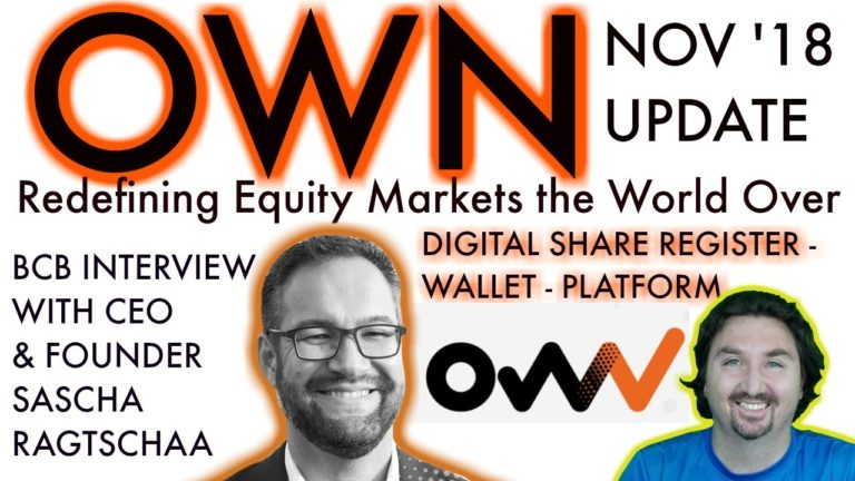 OWN UPDATE | BlockchainBrad Exclusive with $CHX CEO | New Equity Platform | Digital Share Register