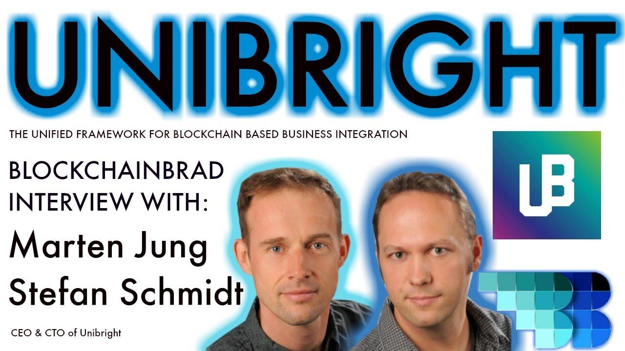 Unibright Update | BlockchainBrad interview with CEO & CTO | Blockchain Business Integration