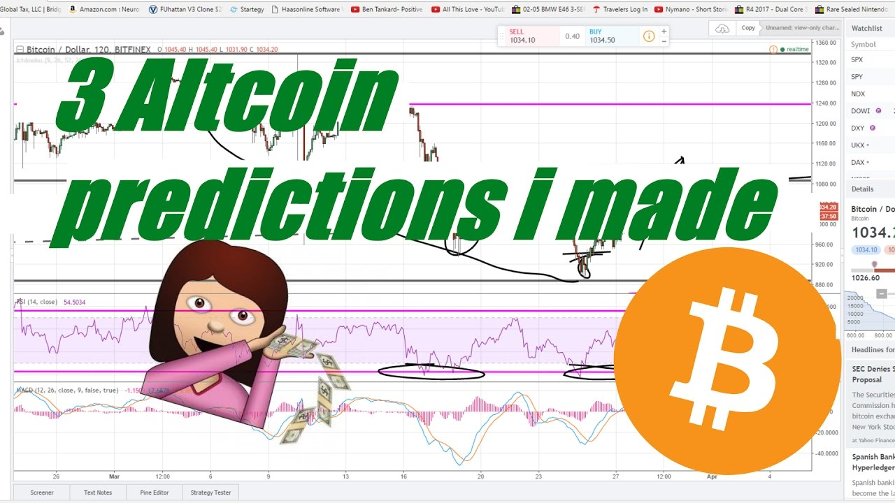 3 Recent Altcoin predictions + how I made them