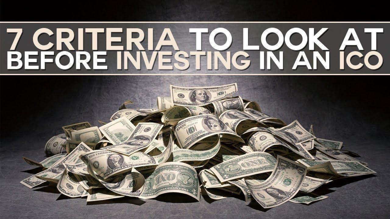 7 criteria for ICO investing
