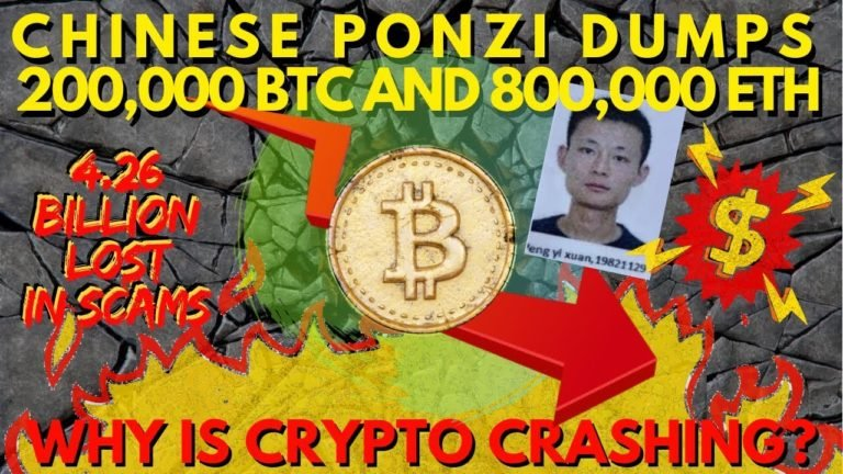BREAKING: Ponzi Plus Token Dumping 200K BTC 800k ETH, Bitcoin Crash is NOT Related to Stocks!