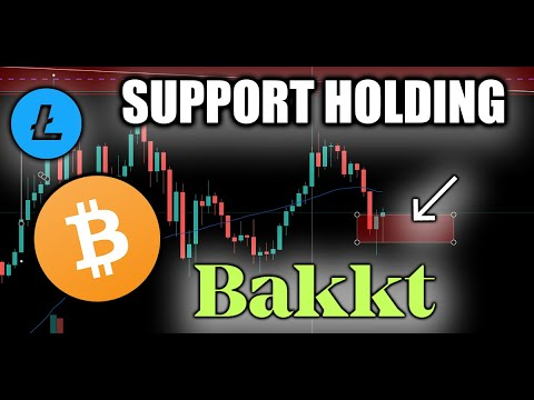 Bakkt BTC Futures LAUNCHING! Bitcoin Showing Support   Litecoin Price Critical Level