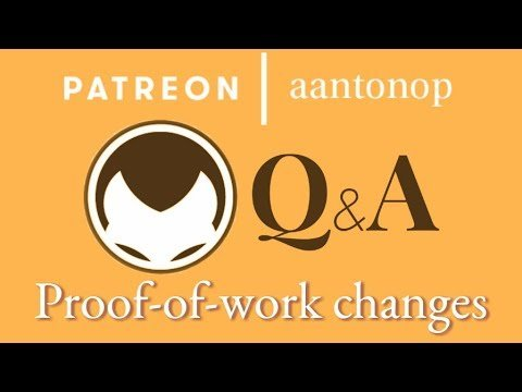 Bitcoin Q&A: Proof-of-work changes