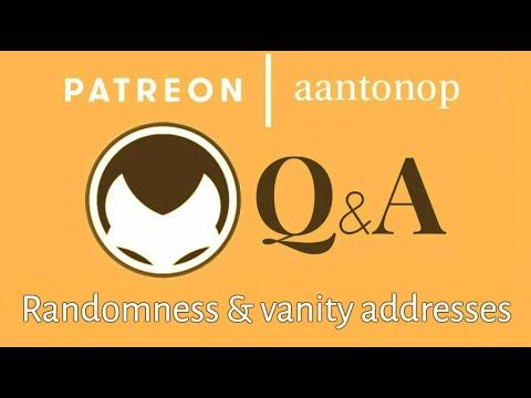 Bitcoin Q&A: Randomness and vanity address generation