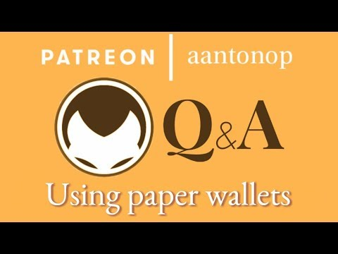 Bitcoin Q&A: Using paper wallets