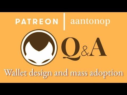 Bitcoin Q&A: Wallet design and mass adoption