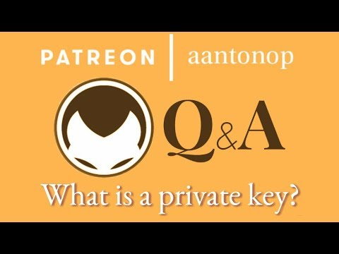 Bitcoin Q&A: What is a private key?