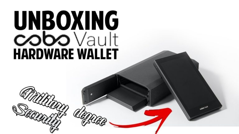 COBO VAULT Hardware Wallet Unboxing & Review! (Military Degree Security)
