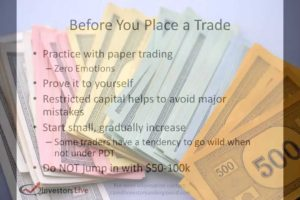 Day Trading Lesson - Myths of paper trading