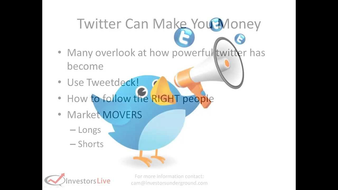 Day Trading Tips - How twitter can help you profit