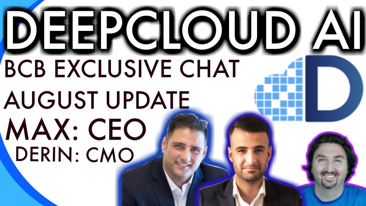 DeepcloudAI Update | BCB | BlockchainBrad chats with CEO & CTO | Crypto News & Info