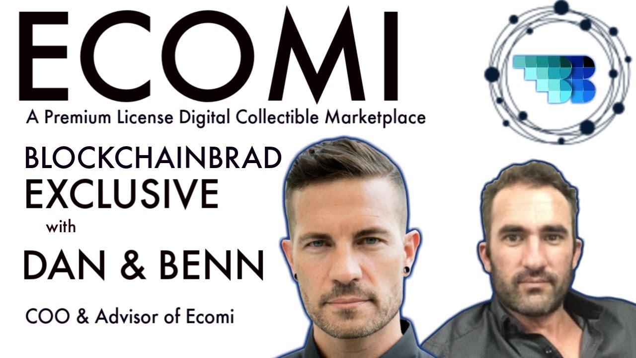 Ecomi | BlockchainBrad |  Digital Collectible Marketplace | Licensed Crypto Collectible Startup