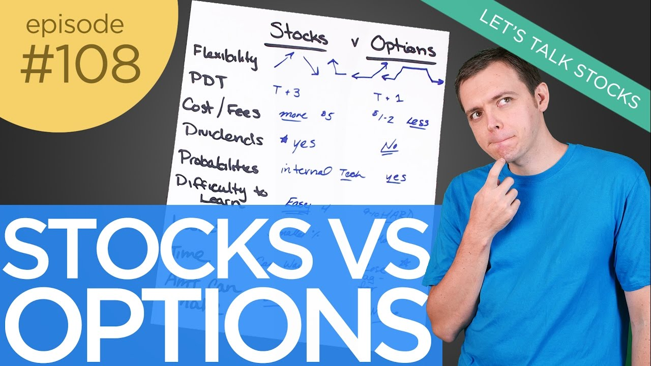 Ep 108 : Trading Stocks vs Options (Which is Better)?