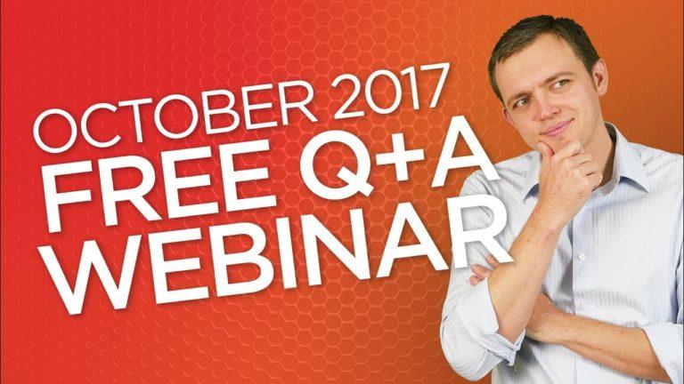 Ep 156: Stock Trading Webinar Q+A (Oct 2017)