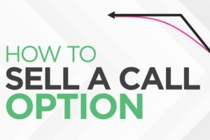 How to SELL a CALL Option - [Option Trading Basics]