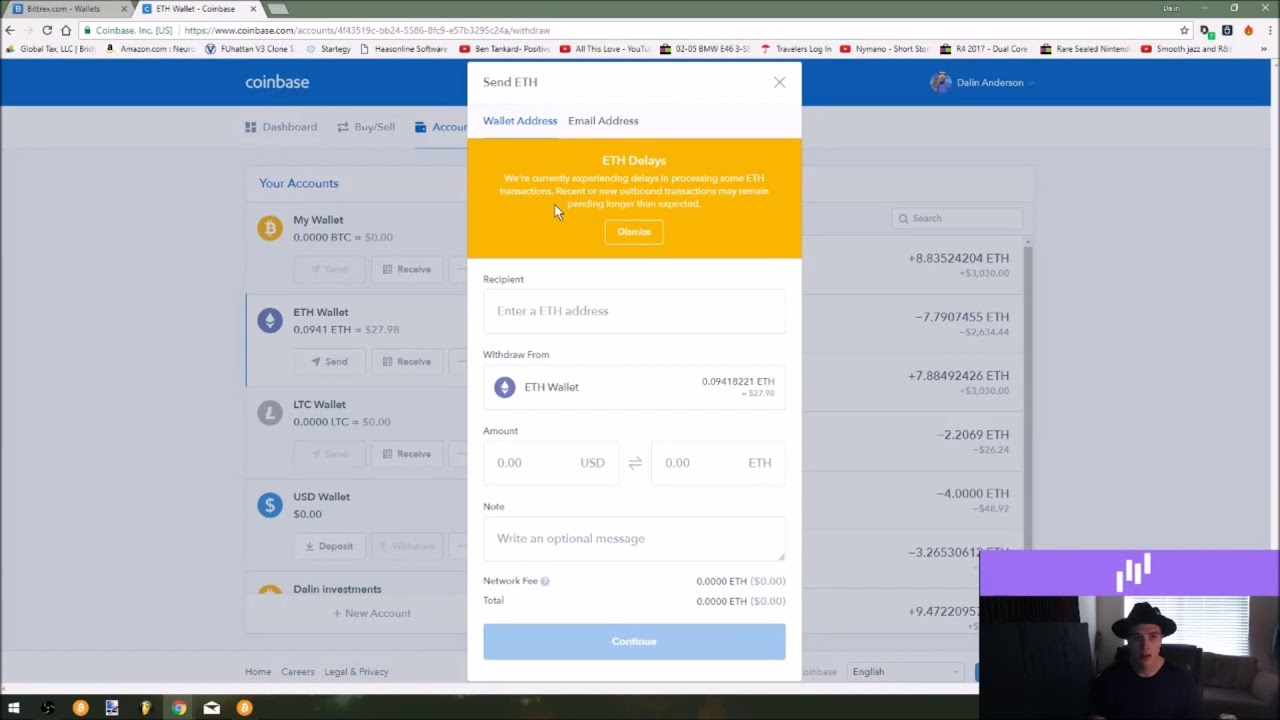 How to signup for Bittrex and send over funds