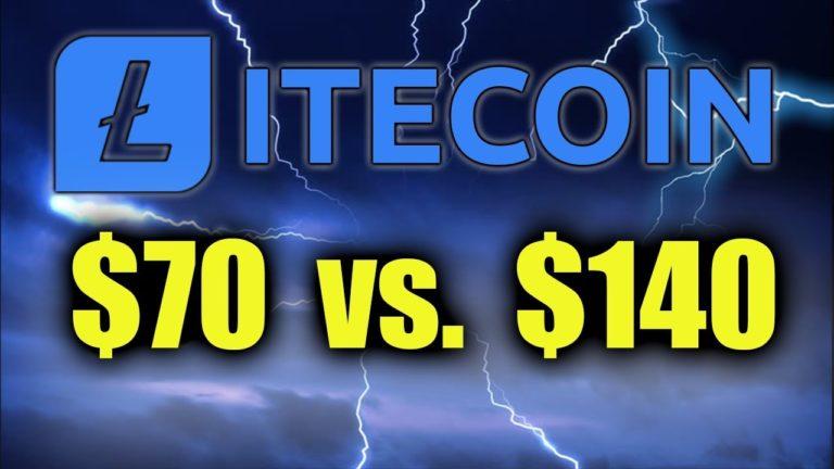 LITECOIN PREPARING TO BREAK – LTC $140 vs. $70