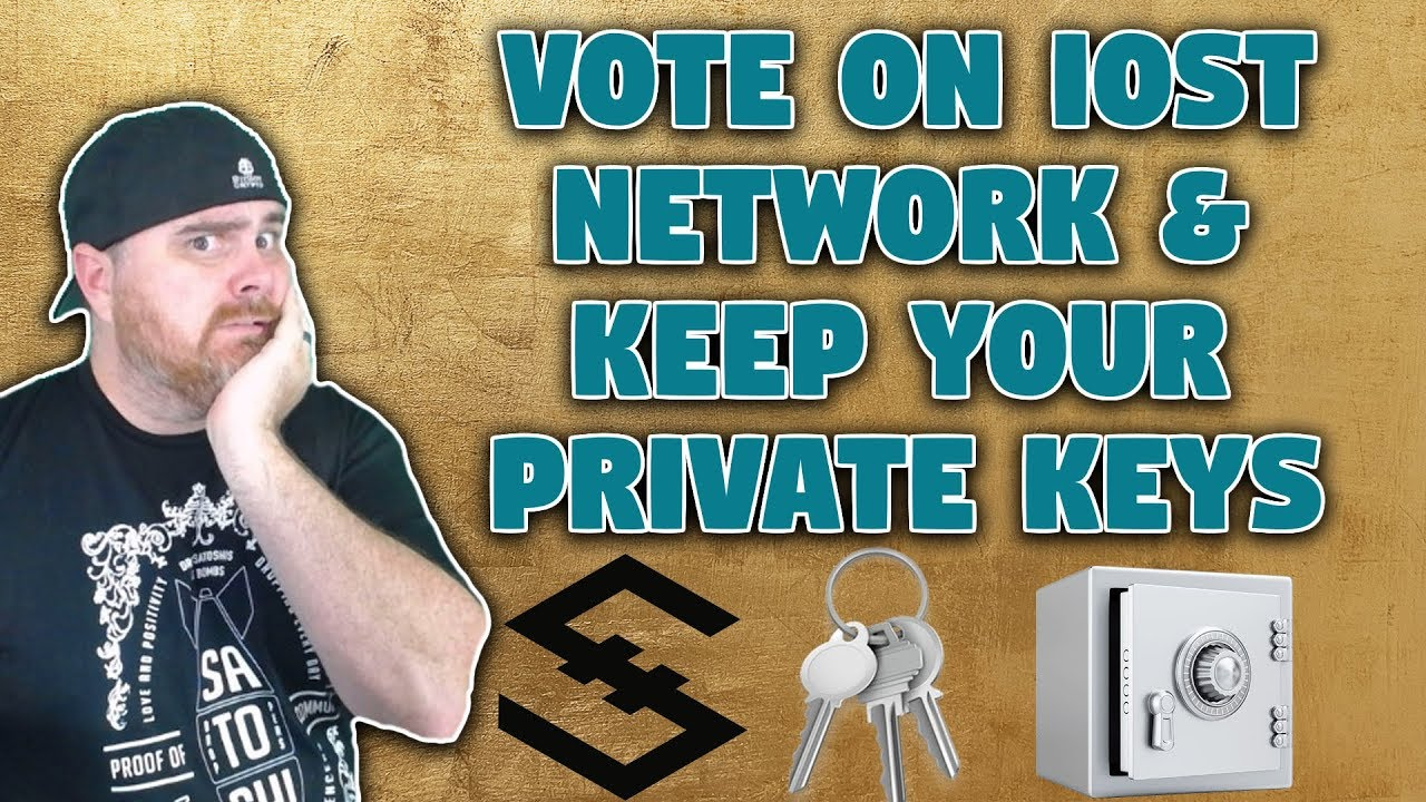 Not Your Keys Not Your Crypto | IOST Voting Directly From Your Wallet