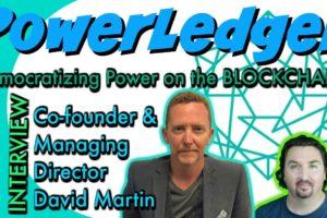 Power Ledger Co-Founder David Martin chats with BlockchainBrad. P2P Energy Trading!