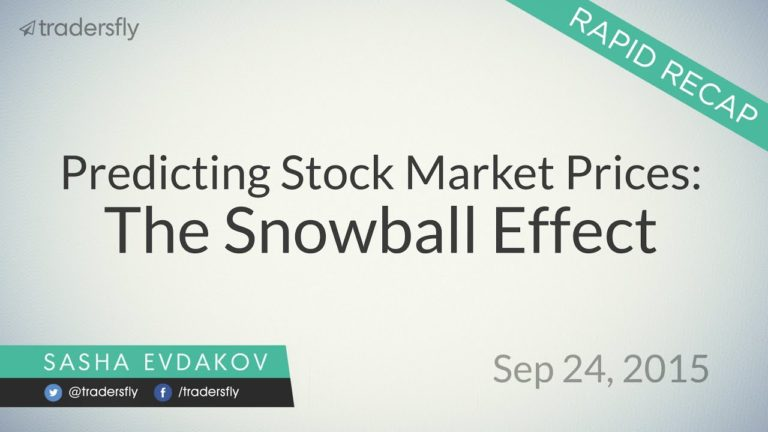 Predicting Stock Market Prices: The Snowball Effect