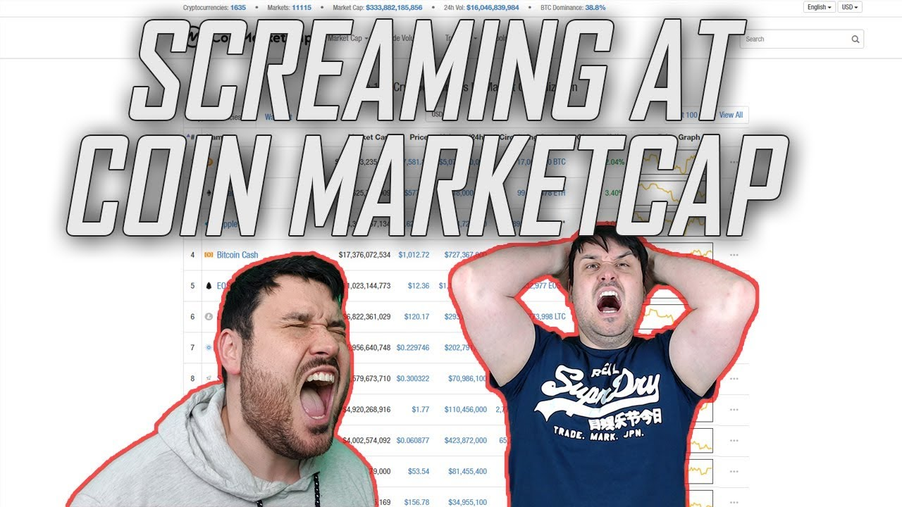 Screaming at Coin Market Cap