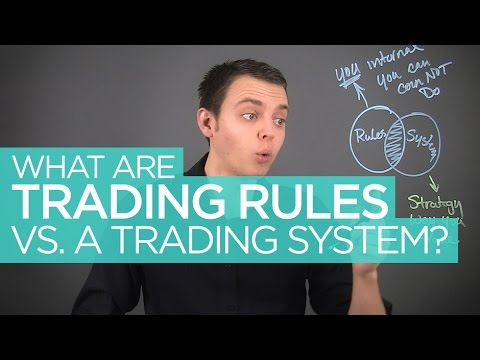 Stock Trading Rules vs Trading System