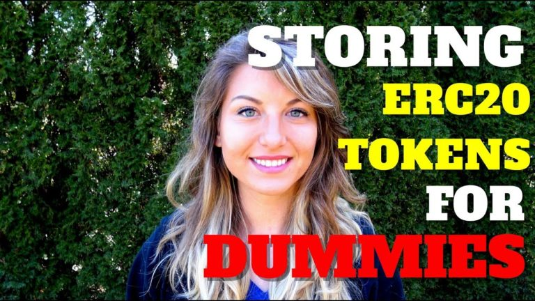 Storing ERC20 Tokens For Dummies