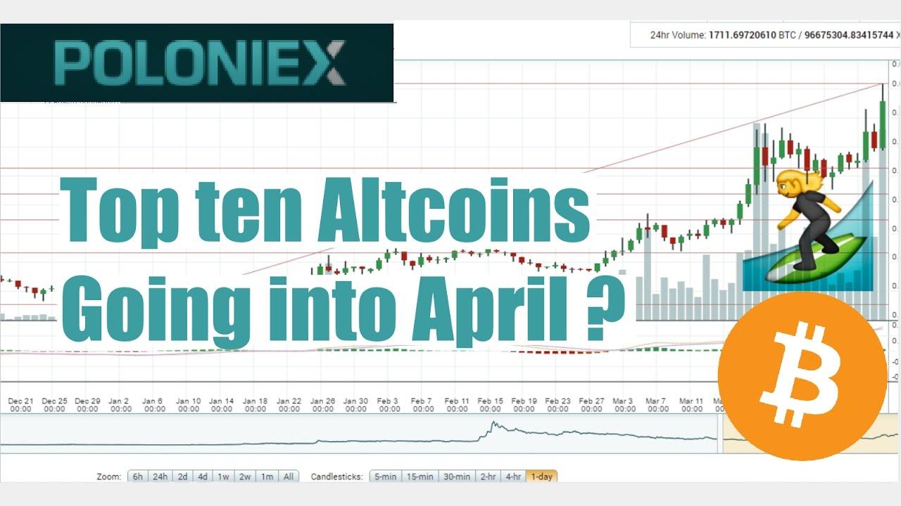 Top ten Altcoins going into April