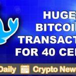 Altcoin & Crypto News: Huge Bitcoin Transaction | $BTC $BAT $SKY $ETH $DASH $LISK $AUG $ZEC