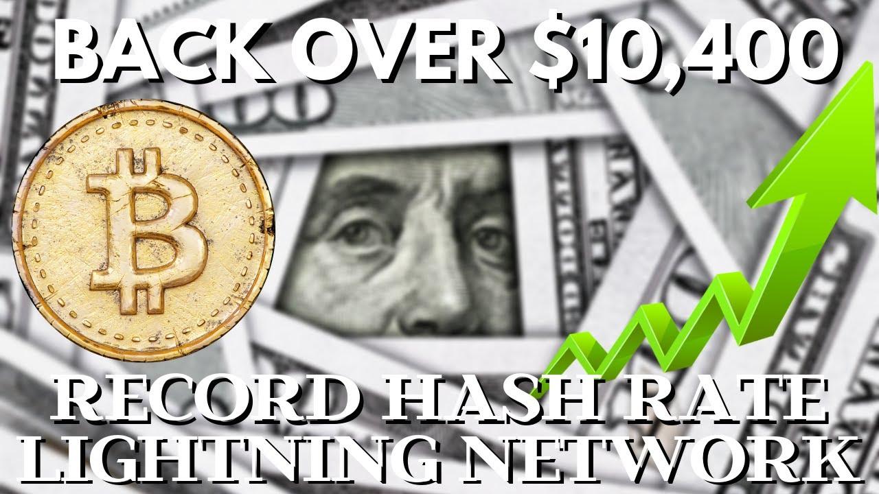 Bitcoin Back OVER $10,400! BAKKT? Highest BTC Hash Rate ...