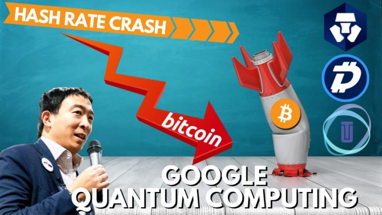 Bitcoin Hash Rate 40% CRASH? Andrew Yang on Encryption and Google Quantum Computing, Digibyte, Bakkt