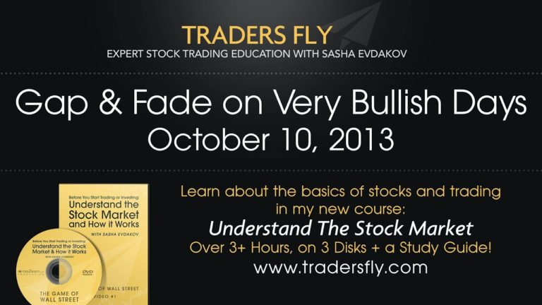 Gap and Fade on Very Bullish Days – Oct 10, 2013