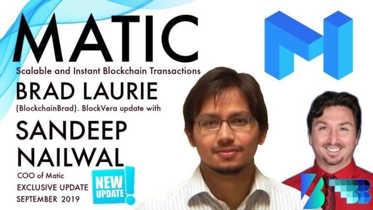 Matic Update | Sandeep NailWal COO | BlockVera | BlockchainBrad | Free Crypto Update | Scalability