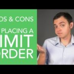 Pros & Cons of Placing a Limit Order in the Stock Market